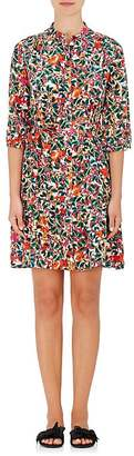 Saloni Women's Tyra Floral Silk Tunic Dress $425 thestylecure.com