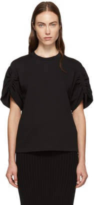 3.1 Phillip Lim Black Gathered Sleeves T-Shirt
