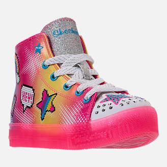 Skechers Girls' Preschool Twinkle Toes: Twinkle Brights Light-Up Casual Shoes