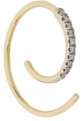 Maria Black Loop diamond earring