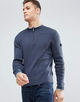 Ben Sherman Zipped High Neck Sweater