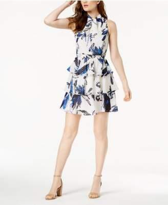 Julia Jordan Ruffled A-Line Dress