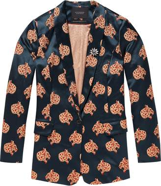 Scotch & Soda Jacquard Leopard Long Blazer