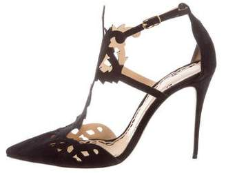 Marchesa Suede Laser Cut Pumps