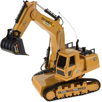 Hey Play Hey! Play! Remote Control Tractor Excavator Construction Toy