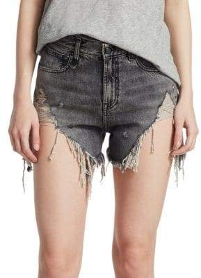 R 13 Leyton Shredded Shorts