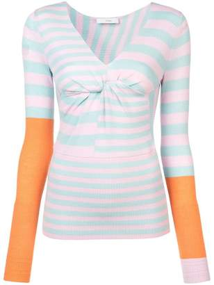 Tome striped fitted jumper