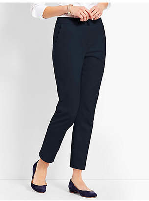Talbots Scallop Pocket Slim Ankle Pant