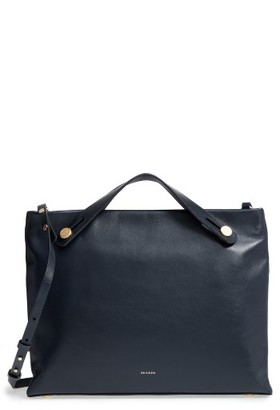 Skagen Mikkeline Leather Satchel - Blue $295 thestylecure.com