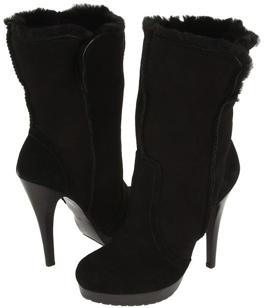 Charles David Sharpei (Black Suede) - Footwear