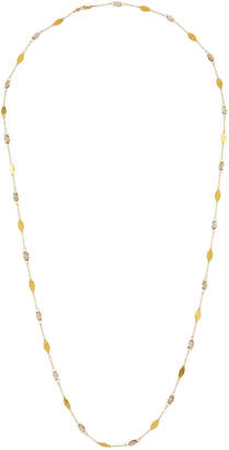 Gurhan 24k Thin Willow Bloom Leaf Necklace w/ Quartz 7hbEKV