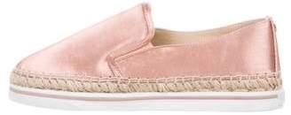 Jimmy Choo Satin Slip-On Sneakers