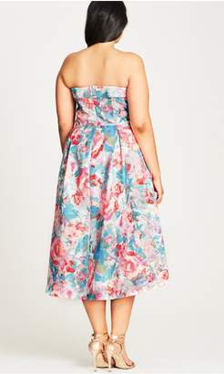 City Chic Citychic Glass Floral Fit & Flare Dress