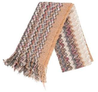 Missoni Knitted Fringe Scarf