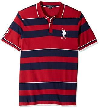 U.S. Polo Assn. Men's Classic Fit Striped Short Sleeve Pique Shirt