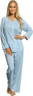 Shadowline Women's Petals Long Sleeve Pajama