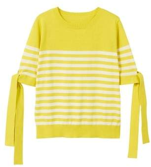 MANGO Bow striped sweater