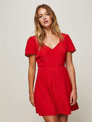 Miss Selfridge Red Fit And Flare Skater Dress