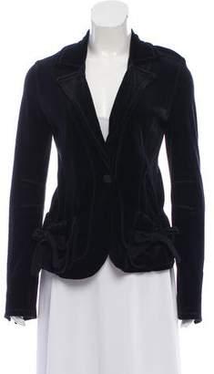 Sonia Rykiel Velvet Tie-Accented Blazer