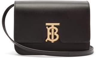Burberry Tb Monogram Leather Cross Body Bag - Womens - Black