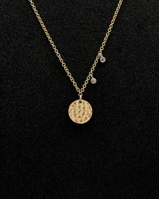 Meira T 14K Diamond Disc Necklace