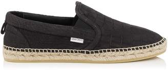 Jimmy Choo VLAD Black Matt Croc Embossed Leather Espadrilles