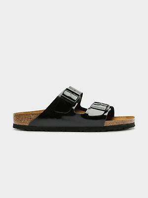 Birkenstock New Womens Arizona Narrow Fit Sandals In Black Patent Womens