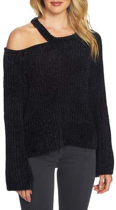 1 STATE 1.STATE Split Neck Chenille Sweater