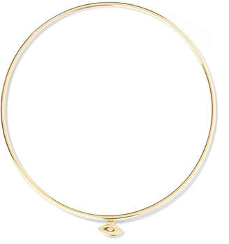 Jennifer Meyer Mini Evil Eye 18-karat Gold Diamond Bangle