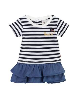 Levi's Kids Frilled Striped Top Denim Dress
