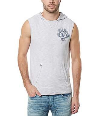 Buffalo David Bitton Men's Kiphew Pullover Hooded Sleeveless Knit Shirt