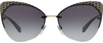 Bulgari cat eye frame sunglasses