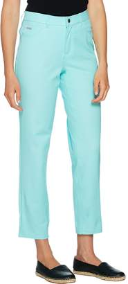 Halston H By H by Petite Studio Stretch 5-Pocket Ankle Pants