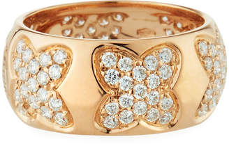 Recarlo 18k Rose Gold Diamond Multi-Clover Ring, Size 5.5