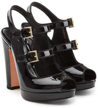 Alexander McQueen Patent Leather Platform Sandals