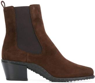 Tod's pebbled sole ankle boots