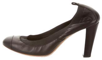 ChanelChanel Leather Cap-Toe Pumps