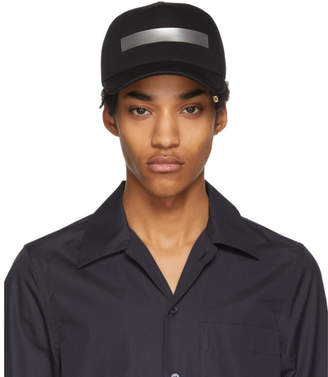 Neil Barrett Black and Silver Tape Cap