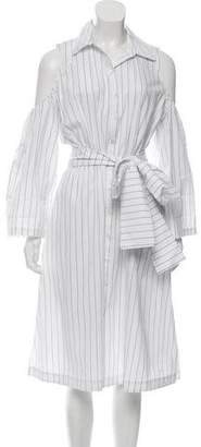 Timo Weiland Striped Cold-Shoulder Dress