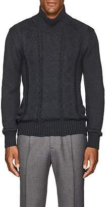 Inis Meain Men's Reverse-Cable-Knit Alpaca-Silk Sweater