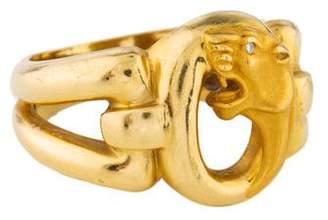 Carrera y 18K Diamond Panther Ring