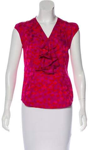 Marc by Marc Jacobs Sleeveless Mixed Print Top