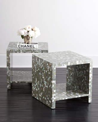 Bernhardt Abalone Side Table
