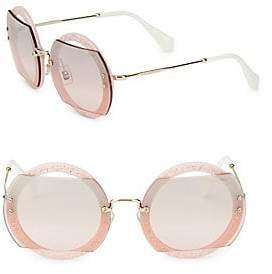 Miu Miu Women's 63MM Round Sunglasses