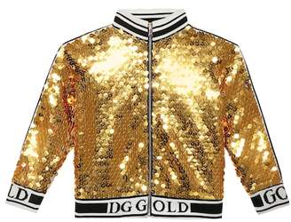 Dolce & Gabbana Sequinned track jacket