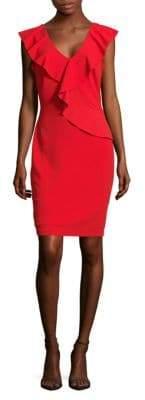 Alexia Admor Ruffled V-Neck Sheath Dress
