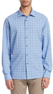 Saks Fifth Avenue COLLECTION Ocean Seersucker Cotton Button-Down Shirt