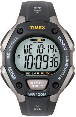 Timex Ironman Mens Black Digital Chronograph Watch 5E901