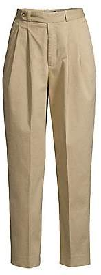 Polo Ralph Lauren Women's Maxwell Pleated Straight-Leg Cropped Chinos - Size 0