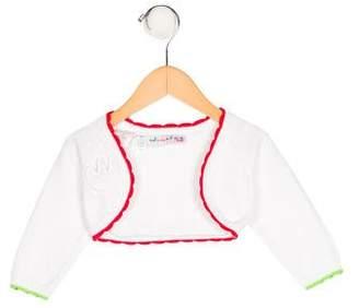 Agatha Ruiz De La Prada Girls' Open Front Long Sleeve Shrug